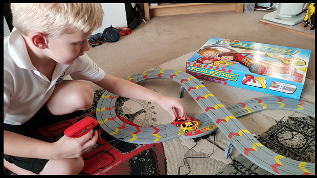 Starting them young racing with My First Scalextric