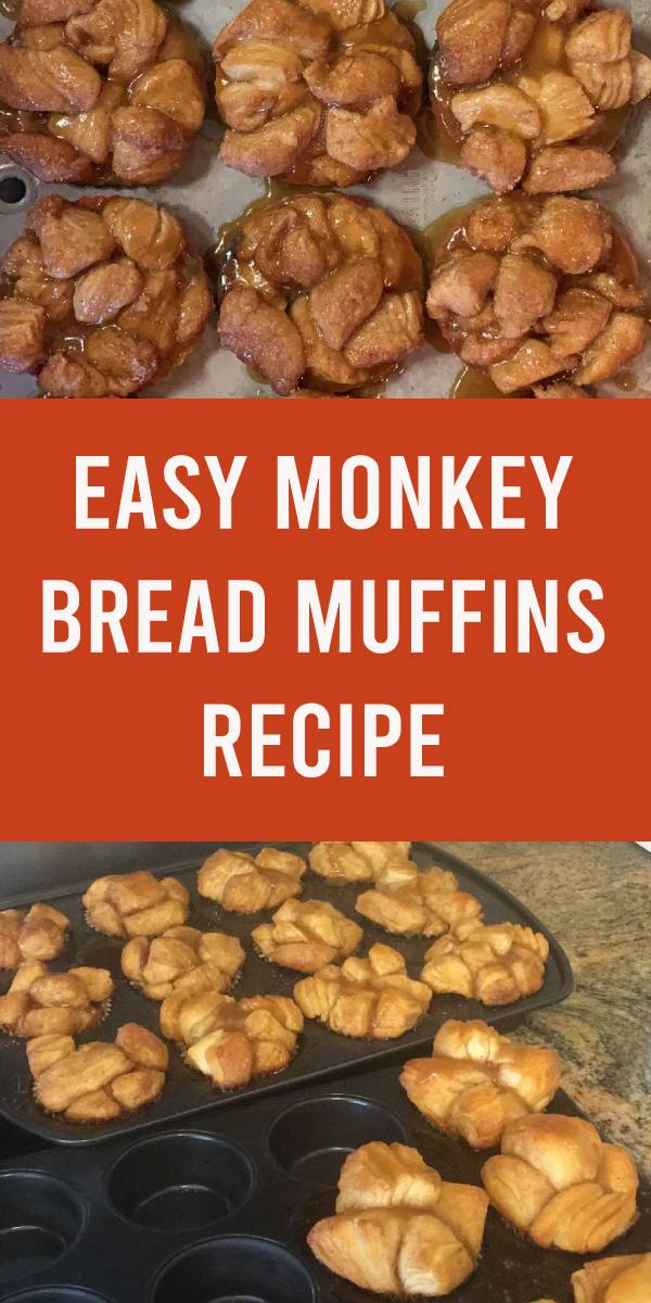 Monkey Bread Muffins Recipe with Canned Biscuits! Easy Monkey Bread Muffin Recipes make the perfect weekend brunch treat. Give them a try this week for a new family favorite! Just 5 ingredients!! #muffins #bread #monkeybread #easyrecipe #brunch