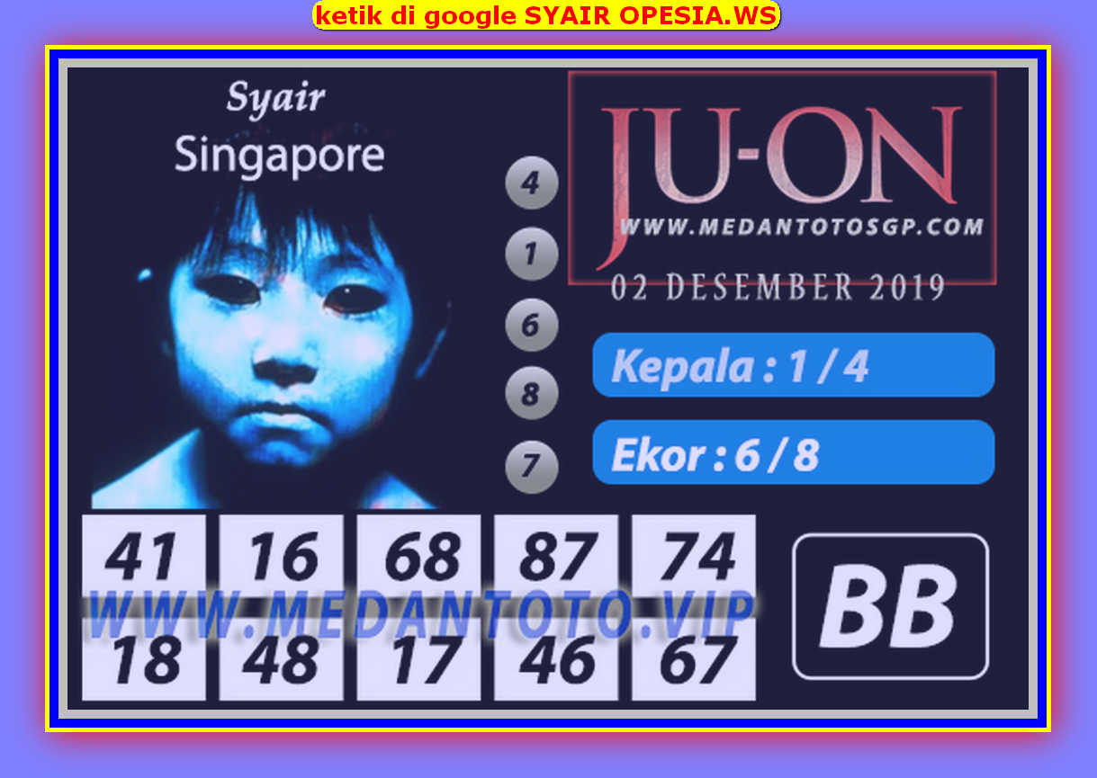 Kode syair Singapore Senin 2 Desember 2019 155