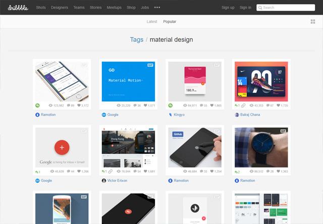 0591 05 material design dribbble