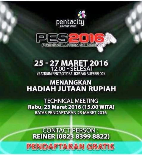 Kompetisi PES 2016 di Balikpapan Maret 2016