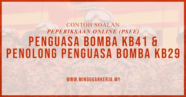 Contoh Soalan Penguasa Bomba Kb41 Dan Penolong Penguasa Bomba Kb29