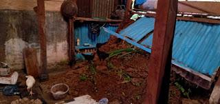 Diguyur hujan 1 Rumah di Sinjai tengah Tertimbun Longsor Kepala BPBD  Bilang Tetap Waspada