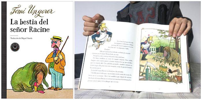 cuento infantil 5 a 8 años regalar Navidades La bestia del señor Racine, Ungerer