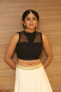 Roshni Prakash in a Sleeveless Crop Top and Long Cream Ethnic Skirt 077.JPG