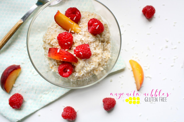 Coconut Lover's Fresh Fruit Oatmeal from Anyonita Nibbles