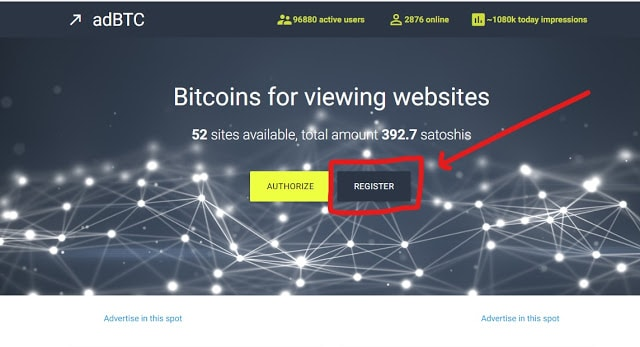 Adbtc top site review Earn Bitcoin for viewing websites