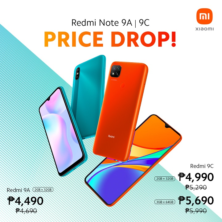 Xiaomi's Redmi 9A and Redmi 9C receives official price cut in PH