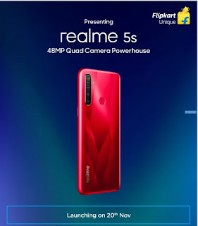 Realme 5s Confirmed to launch on 20th November, Flipkart Teaser