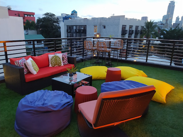 Rooftop area at UNWND Hostel