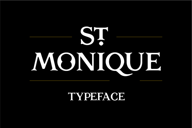 St. Monique Typeface par jeanmw