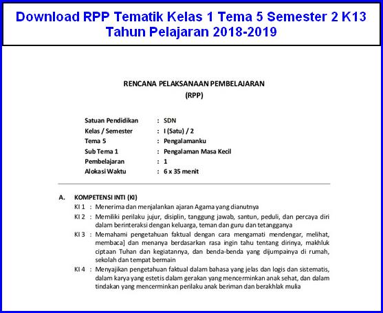 Download Rpp Kelas 1 K13 Revisi 2017 Guru Ilmu Sosial