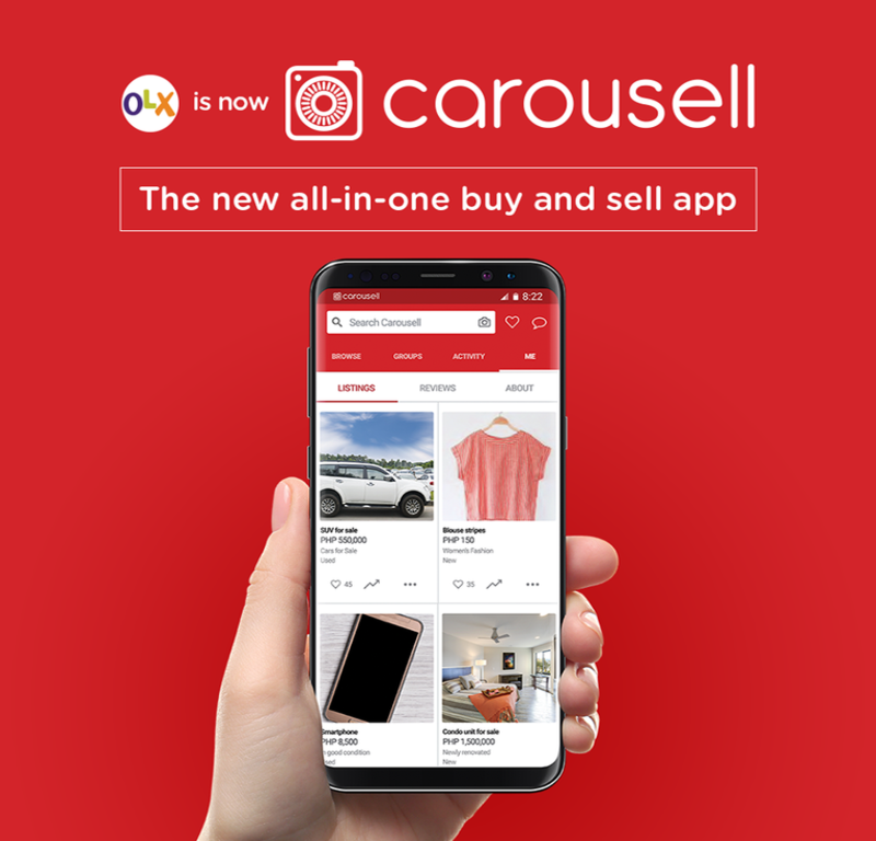 OLX Philippines officially moves to Carousell