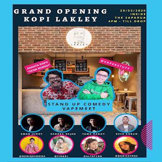 Grand Opening Kopi Lakley