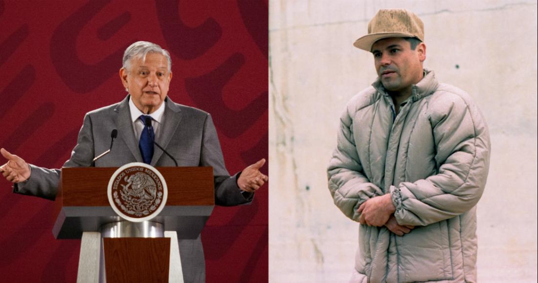 """México reclamará los bienes que se decomisen a """"El Chapo""""; no es verdad que fuera tan rico: AMLO"""
