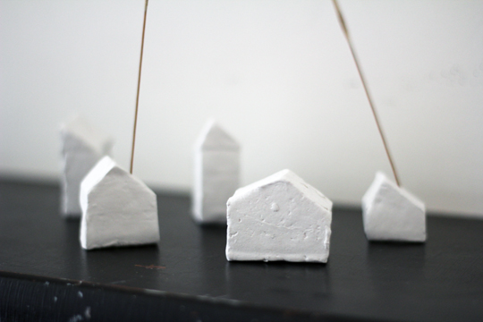 clay house incense holder diy