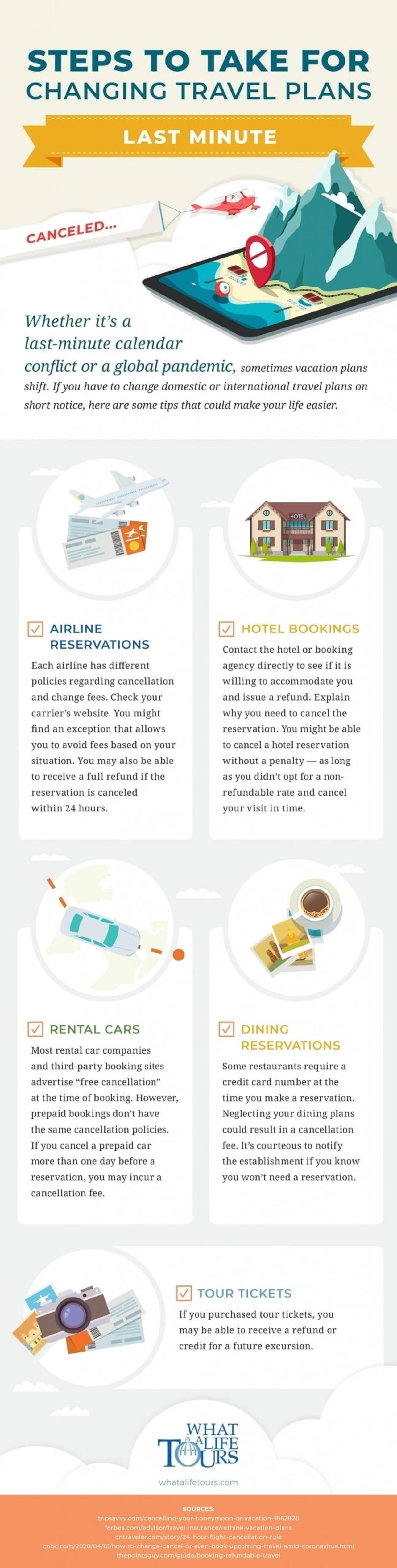 Changing your Travel Plans #Infographic