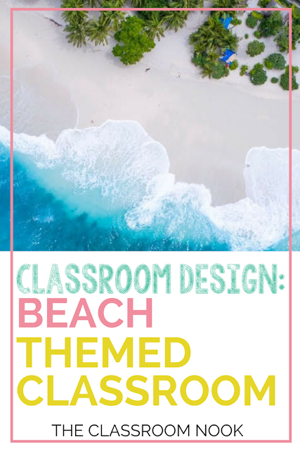 Create a beach themed classroom with these ideas and tips for beach themed bulletin boards, beach theme classroom accessories, beach theme printable decor and more!  #classroomdecor #classroomdecorations #classroom #teacher #backtoschool