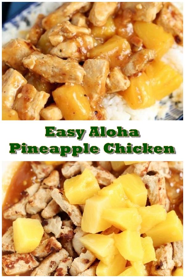 #Easy #Aloha #Pineapple #Chicken #crockpotrecipes #chickenbreastrecipes #easychickenrecipes