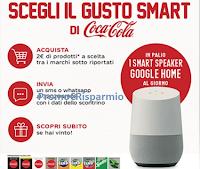 Logo Scegli il gusto Smart di Coca-Cola: vinci 30 smart speaker Google Home