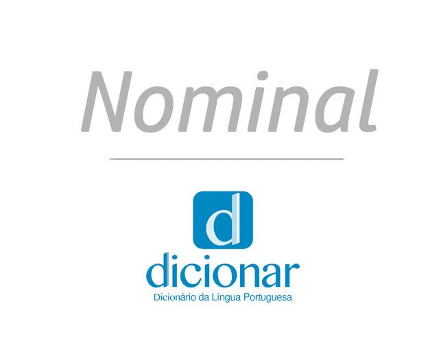 Significado de Nominal