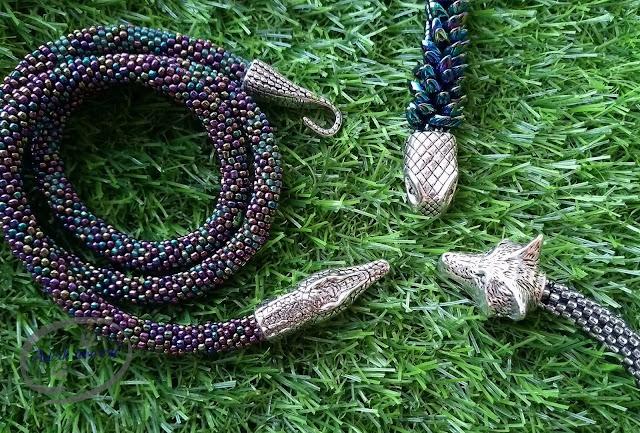 Adzik tworzy - sznury szydełkowo-koralikowe biżuteria handmade