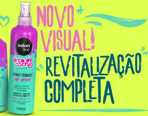 Spray Térmico Renova Cachos Day After Nova Embalagem e Fórmula