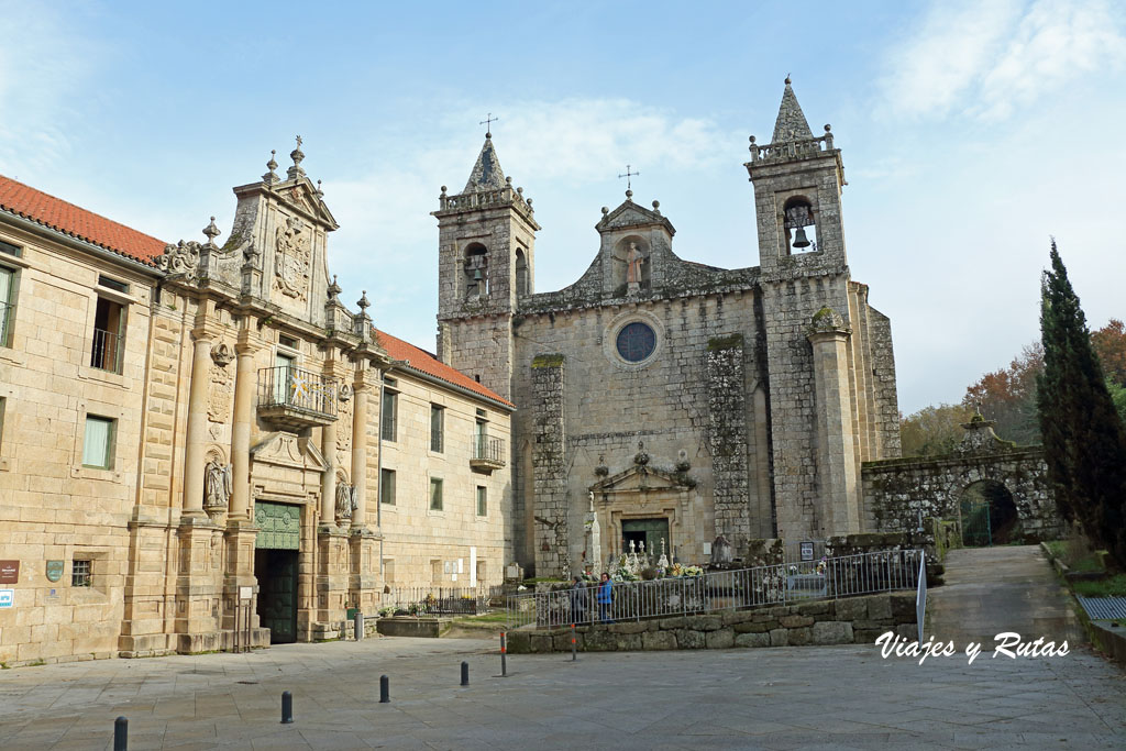 Vista general del Monasterio de Santo Estevo