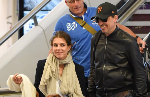 Charlotte Casiraghi And Gad Elmaleh At Paris-Orly Airport