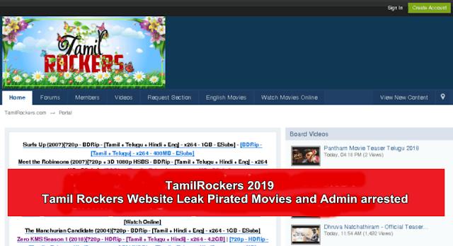TamilRockers 2019- Tamil Rockers Website Leak Pirated Movies