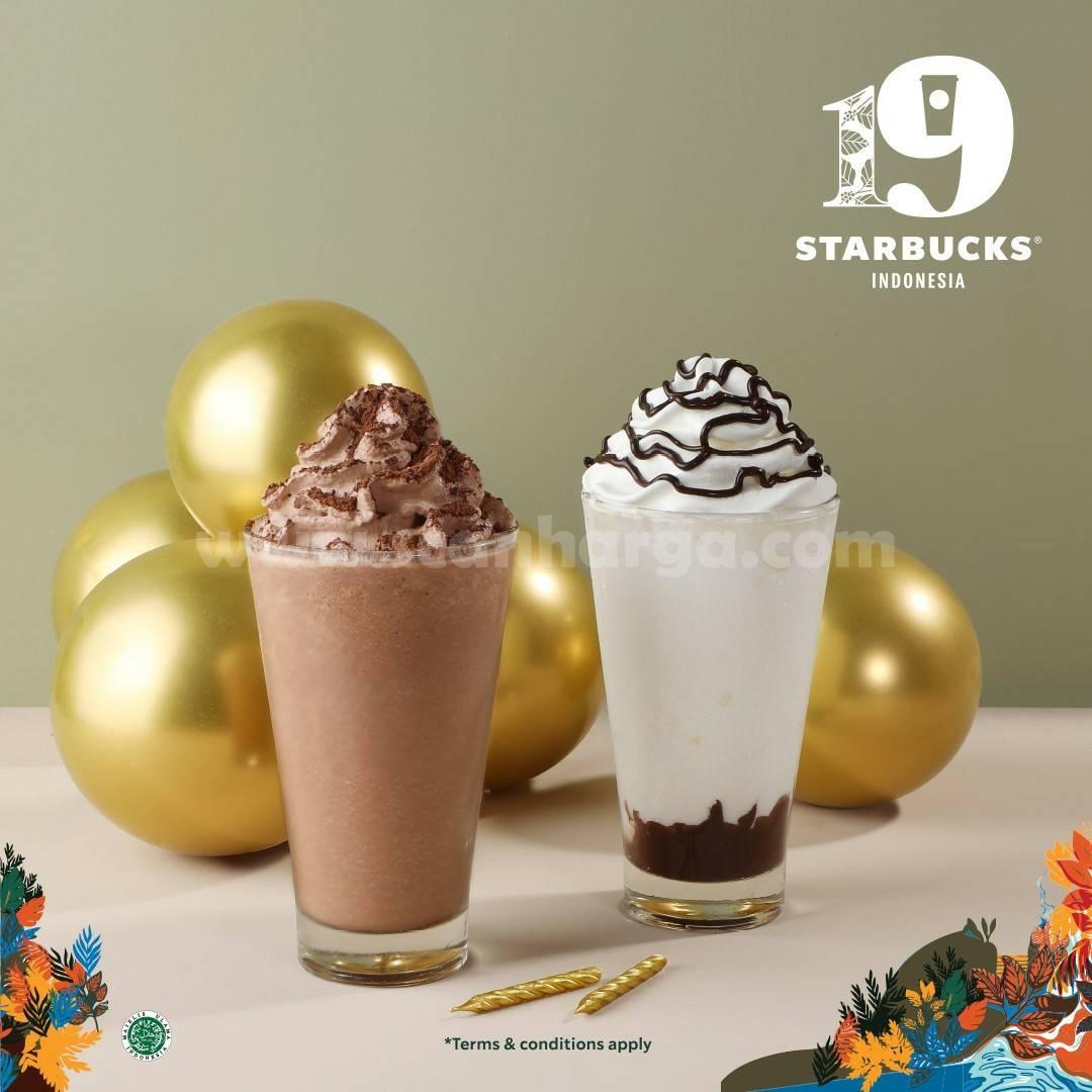 Promo STARBUCKS ULANG TAHUN 19th! Harga Spesial minuman Hanya Rp25.000