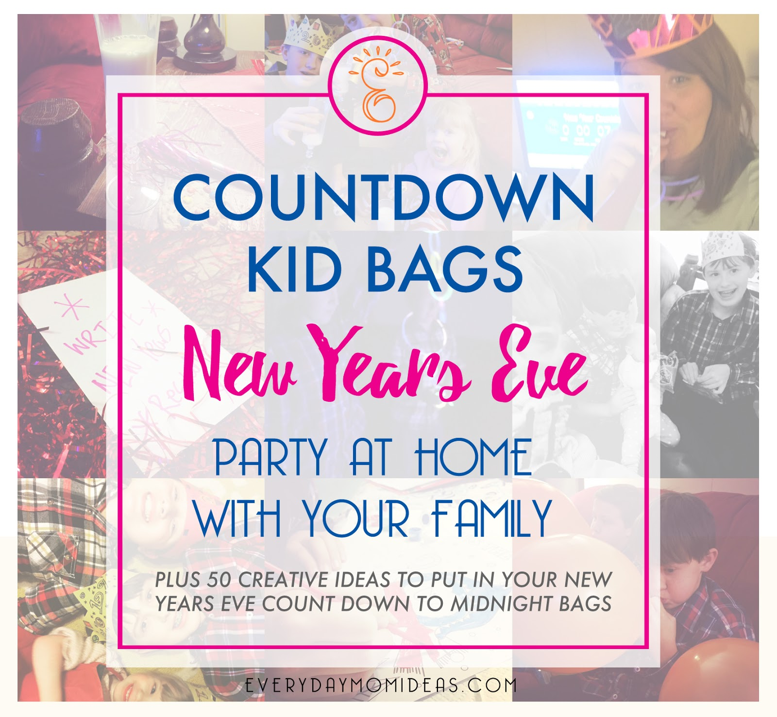 Kids Countdown Bags For New Years Eve - Everyday Mom Ideas