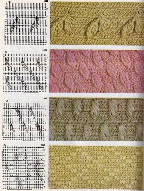 patron  punto hojas en reliveCrochet Imagenes Puntada de hojas a relieves a crochet y ganchillo por Majovel Crochet