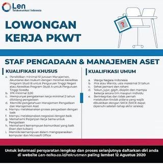 Staff Pengadaan dan Manajemen Aset di PT Len Telekomunikasi Indonesia