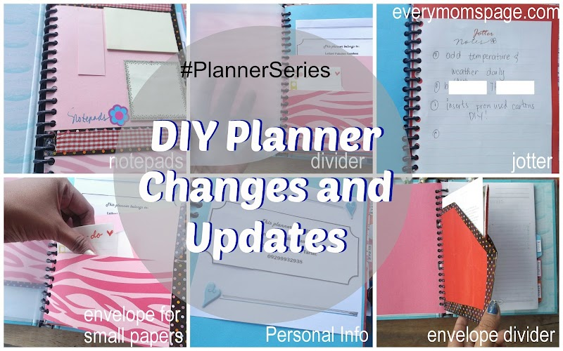 My DIY Planner Changes and Updates