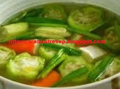 Foto Sayur Bening Oyong Campur Kacang Panjang dan Wortel Spesial