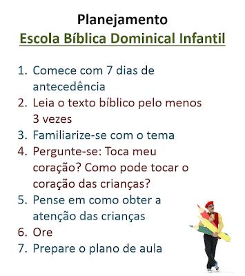 ideias criativas para preparar a escola bíblica dominical infantil