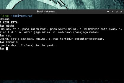 Kamus Inggris - Indonesia Berbasis CLI di Linux