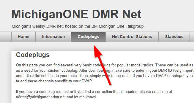 MichiganONE DMR Net: Michigan Codeplugs Now Available!