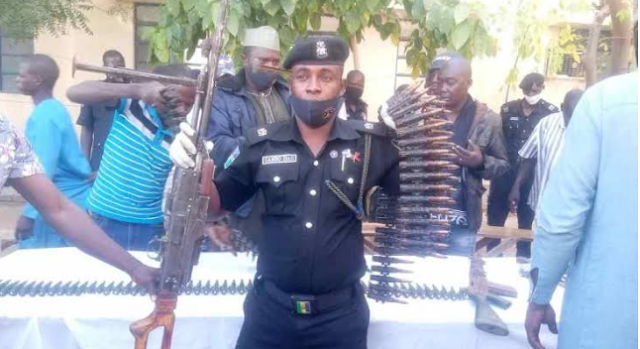 Father, Sons And Other Arms Dealers Arrested For Supplying Guns To Bandits In Katsina (Photos)