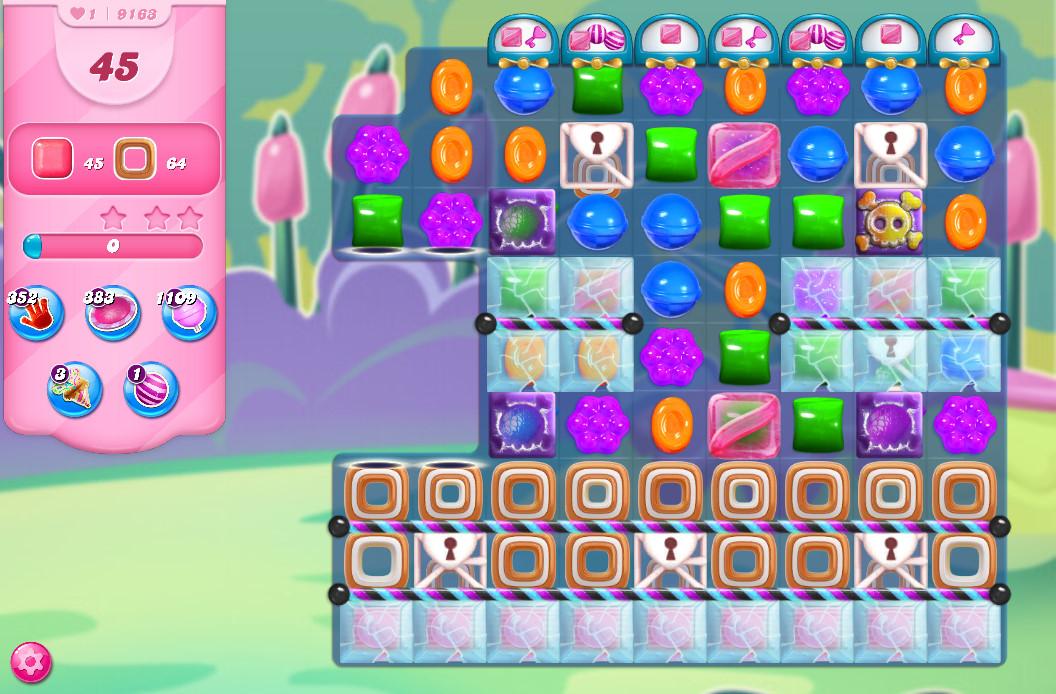 Candy Crush Saga level 9163