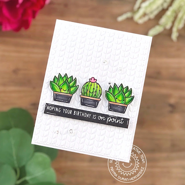 Sunny Studio Stamps: Looking Sharp Stitched Rectangle Dies Birthday Card by Mayra Duran-Hernandez