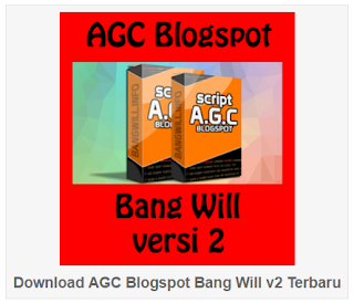 Download Gratis AGC Bang Will Terbaru (Blogspot)