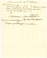 Prescription for a purgative in preparation for inoculation from the late 1700s