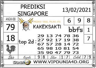 Prediksi Togel SINGAPORE DUNIA4D 13 FEBRUARI 2021