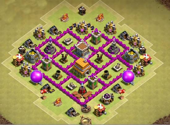 town hall 6 war base