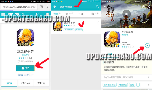 cara download dan instal bermain dragon nest android