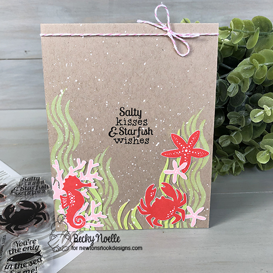 Salty kisses by Becky features Waves and Tranquil Tides by Newton's Nook Designs; #newtonsnook