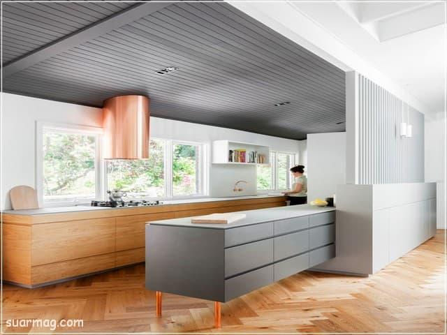 اشكال مطابخ خشب 10   wood kitchens shapes 10