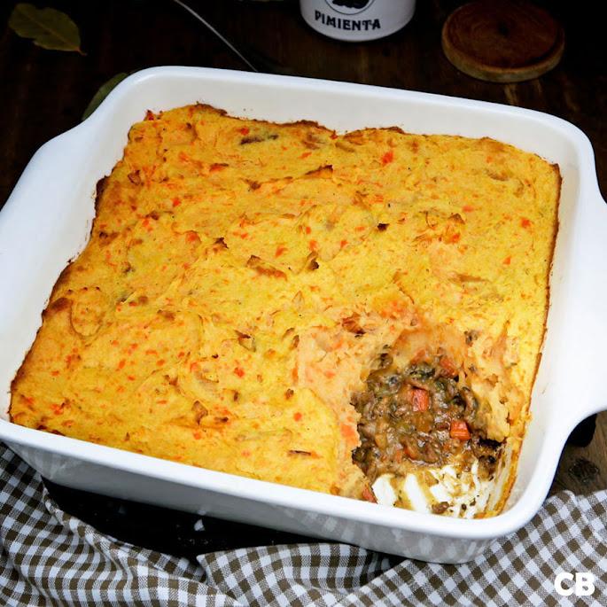 Recept Hutspot-ovenschotel met kruidig gehakt